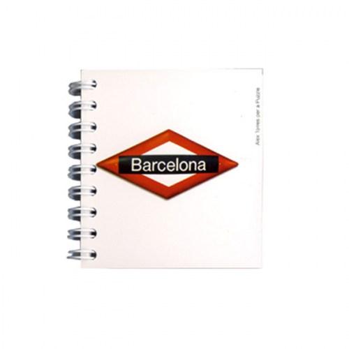 LIBRETA 8X8 BARCELONA PLACA METRO | REF: 900-61 | 3€