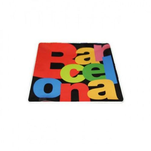 PLATO 9x9 BARCELONA LETRAS Negro | REF: 58-359 | 6€