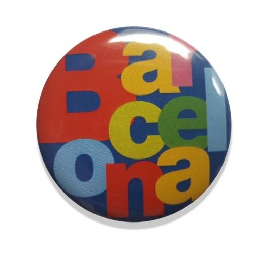 CHAPA AGUJA BARCELONA LETRAS | Azul REF: 58-20BL | 1.20€