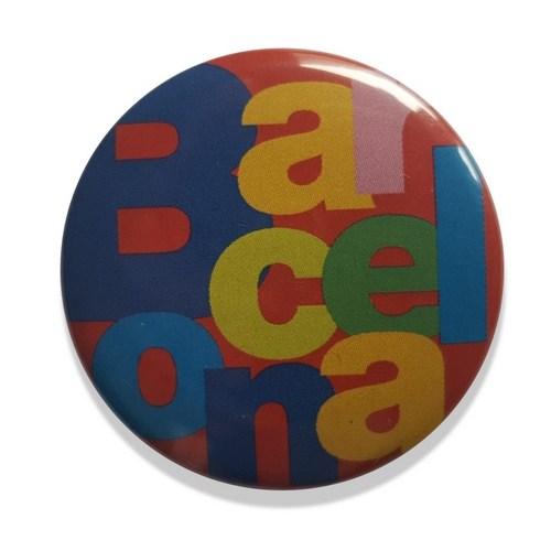 CHAPA AGUJA BARCELONA LETRAS Rojo | REF: 58-20V | 1.20€