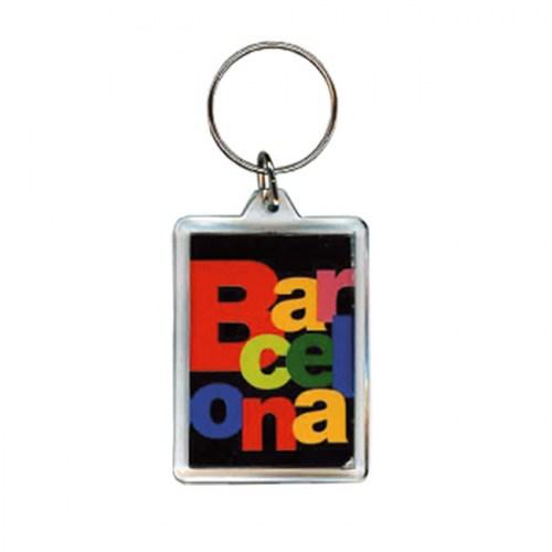 LLAVERO BARCELONA LETRAS Negro | REF: 58-361 | 3.50€
