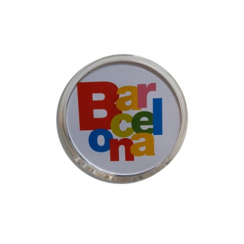 PINZA IMÁN BARCELONA LETRAS Blanco | REF: 58-345 | 3.50€