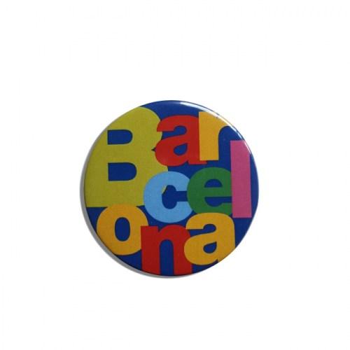 CHAPA IMÁN BARCELONA LETRAS Azul | REF: 58-40BL | 1.50€