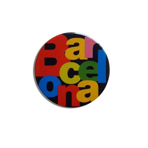 CHAPA IMÁN BARCELONA LETRAS Negro | REF: 58-40N | 1.50€