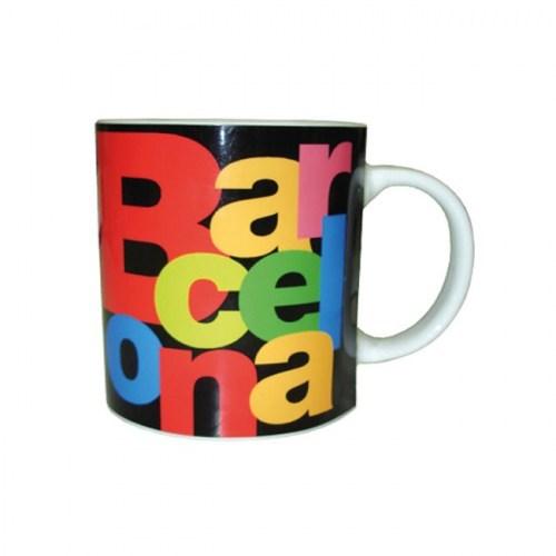 TAZA BARCELONA LETRAS  Negro | REF: 58-355 | 10€