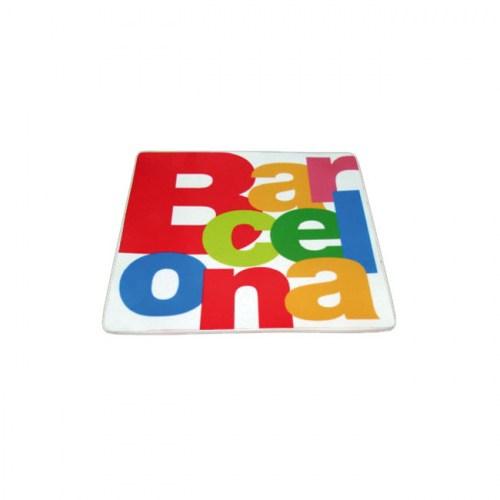 PLATO 9x9 BARCELONA LETRAS Blanco | REF: 58-352 | 6€
